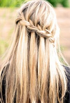 25 Gorgeous Half-Up, Half-Down Hairstyles. Waterfall Braid Waterfall braids look so complex but they are really easy to do. If you can French braid, you can create this gorgeous half up hairstyle. Get the step-by-step at Total Beauty.