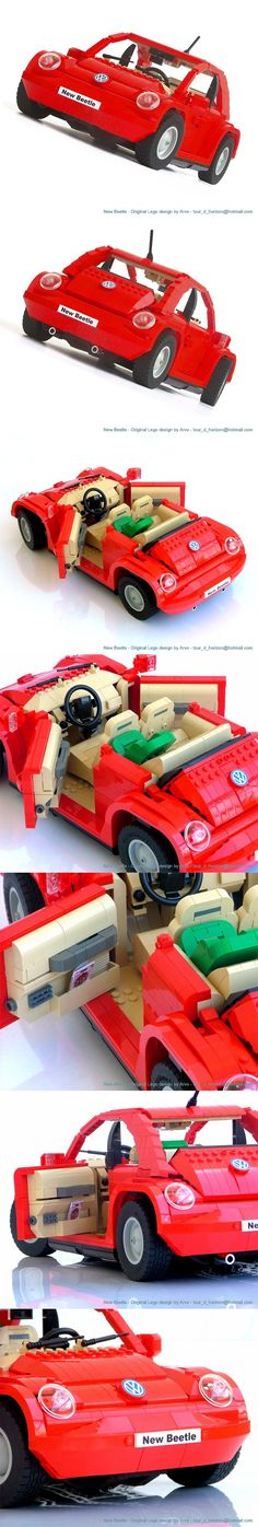 Awesome Volkswagen Brickshelf Gallery - Volkswagen New Beetle LEGO Vehicles Check more at carsboard. Lego Universe, Volkswagen New Beetle, Lego Pictures, Lego Man, Lego Models, Lego Technic, Cool Lego, Lego Friends, Lego Building