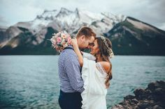 Kristyn and Joe's Banff elopement is full of breathtaking views, family heirlooms, and blissful moments in the mountains captured by Tricia Victoria Photo.