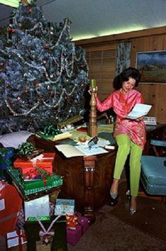 Lady Bird Johnson at the L.B.J. Ranch during Christmas time