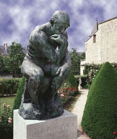 « Offert au peuple de Paris » Le grand Penseur, encore en plâtre, fut exposé…