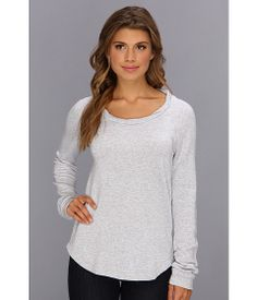 Splendid Soft Melange French Terry Pullover Heather Grey - Zappos.com Free Shipping BOTH Ways