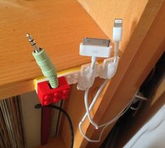 Create a cable holder with Lego