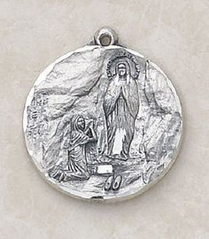 Our Lady of Lourdes Special Sterling Silver Devotion Medal