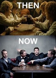 Geek Discover Hobbit cast from LotR: then vs. Friday Pictures Funny Pictures Moving Pictures Lotr O Hobbit Hobbit Hole J. Jrr Tolkien, Friday Pictures, Funny Pictures, Moving Pictures, O Hobbit, Hobbit Hole, Cinema, Legolas, Aragorn