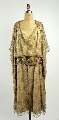 #Vintage Dress. ca. 1922 (metmuseum.org), Art Deco