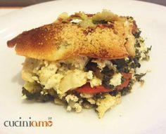 Lasagnetta di pane Carasau vegetariana  http://cuciniamo.mammeonline.net/lasagnetta-di-pane-carasau-vegetariana/