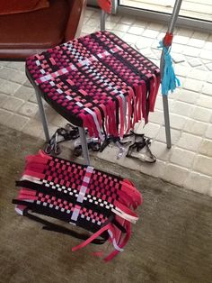 Woven elastic chair -- nearly finished