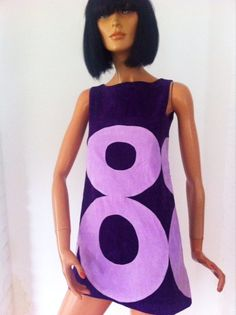 60s purple mini dress
