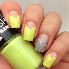 Different nails. Yellow. Nail art. Nail design. Polishes. by @Sinney Puebla Puebla Puebla