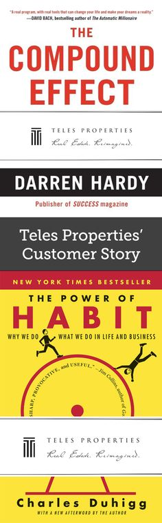 Teles Properties' Customer Story | As part of a marketing initiative, Teles Properties gave The Compound Effect and The Power of Habit to existing and prospective clients. They added bellybands to all the books in their order.