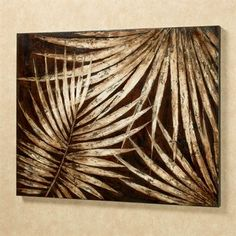 Tropical Foliage Handpainted Canvas Art