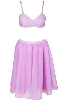 ROMWE | Dual-tone Purple Skirt Set, The Latest Street Fashion #ROMWEROCOCO