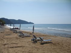 The beautiful sandy beach of Agios Georgios (St George) Pagi, NW Corfu