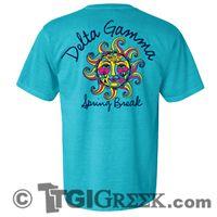TGI Greek - Delta Gamma - Spring Break - Greek Tshirts - Comfort Colors
