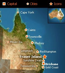 Been to the Noosa Head at Gold Coast and Brisbane (as far north as I got).   Fraser Island at a glance