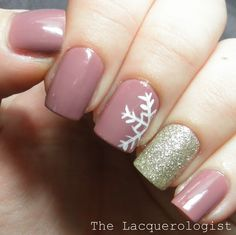 The Perfect January Manicure. #snowflake