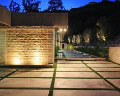 Modern Exterior Concrete Block Design, Pictures, Remodel, Decor and Ideas