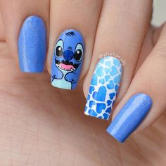 Disney Acrylic Nails, Blue Acrylic Nails, Summer Acrylic Nails, Nagellack Design, Glow Nails, Cute Acrylic Nail Designs, Pretty Nail Art, Dream Nails, Swag Nails