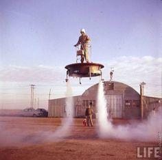 Hovercraft takeoff.