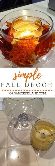 Great simple tips to decorate for fall simply and beautifully!