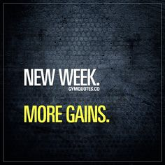 #newweek #moregains Like it if you'll be training HARD this week!