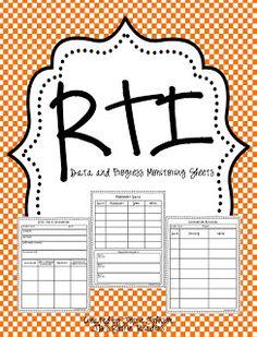 Classroom Freebies: RTI- Progress Monitoring