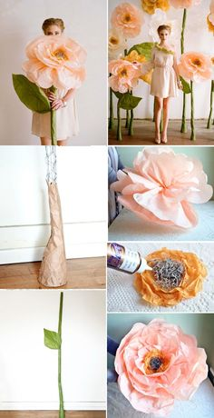 Tissue paper flower decorations. So pretty.