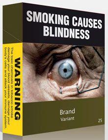 Plain cigarette packaging in Australia