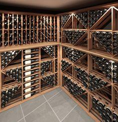 Wine cellar of our dreams! Wine Cellar Design, Wine Design, Deco Design, Decoration Design, Wine Cellar Basement, Home Wine Cellars, Just Wine, Wine House, Wine Cabinets
