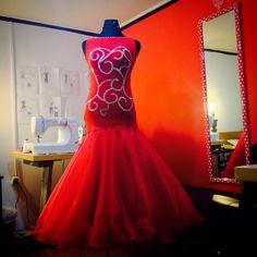Ballroom dance dress.