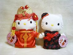 "McDonalds HELLO KITTY & Dear Daniel China Millennium Wedding Plush Doll Set 1999 : *Condition* As shown in the pictures, Unused. Released by Sanrio JAPAN x MacDonald in 1999 and sold in Asia only. *Size* About  Kitty >> 9.1"" (23cm), Daniel >> 7.1"" (20cm) in height 20.13-34 (15/17/21)"