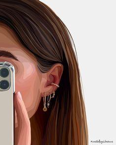 Wallpaper Doodle, Phone Wallpaper Images, Wallpapers, Portrait Photography Poses, Portrait Art, Friends Illustration, Illustration Art, Illustrations, Deer Wall Art