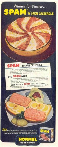 Uh, no. No winner here. Spam and corn