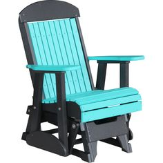 LuxCraft 2 foot Classic Highback Recycled Plastic Glider Chair