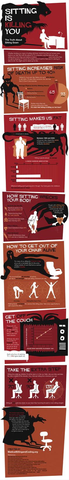 Health Risks of Sitting Down Too Long