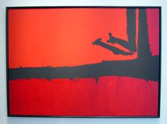 Red Cut by Black by Robert Motherwell