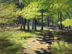 """Spring Woods"" by Philip Frey. 18""x24' Oil on Canvas.  Available at Maine Art Paintings & Sculpture."