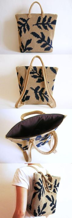 Leaves Backpack Crochet Pattern
