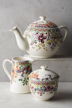 Gien Bagatelle Teapot | Anthropologie