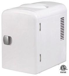 Gourmia GMF-600 Gourmia GMF600 Portable 6 Can Mini Fridge Cooler and Warmer for Home ,Office, Car or Boat AC & DC, White, http://www.amazon.com/dp/B00DQT2ZGE/ref=cm_sw_r_pi_awdm_x_q8fYxb4ZMVJBN