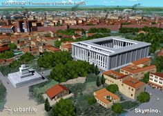 Aerial view of the Porta Ticinensis from beyond the city walls of Mediolanum. The Porta Ticinensis is located along the southwestern wall and its the road which it services leads to Ticinum. Old Images, Ancient Rome, Aerial View, Milan, Empire, Mansions, House Styles, Byzantine, Bella
