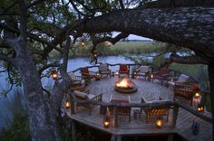 Xaxanaka Camp is one of the older camps in the Oakavango Delta and is situated in the world renowned Moremi Game Reserve. The Moremi Game Reserve is considered to be among Africas top game viewing destinations. Wildlife abounds and the setting is rich in Outdoor Fire, Outdoor Areas, Outdoor Decor, Best Resorts, Hotels And Resorts, Safari Decorations, Viewing Wildlife, Game Lodge, Backyard