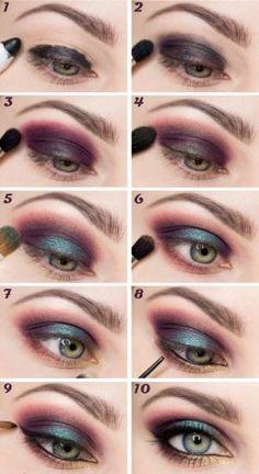Summer makeup tutorial.