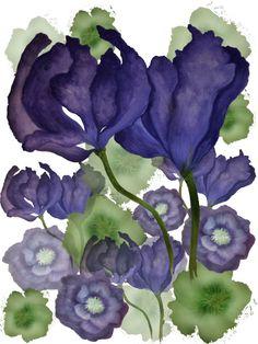 Painted Florals Print Design By Gemma Lofthouse ©