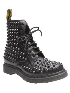 Doc Martin Leather Spiked boots. Oh how I love Doc Martin shoes :)