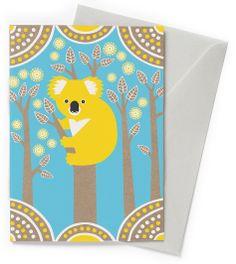 Koala Country eco friendly card by Earth Greetings.