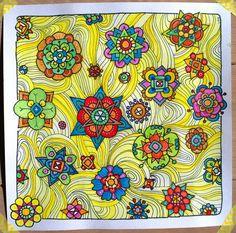 Doodle 91 | Flickr - Photo Sharing! Mandala Doodle, Doodles Zentangles, Zen Doodle, Doodle Art, Doodle Patterns, Flower Doodles, Flower Mandala, Line Drawing, Trees To Plant
