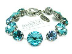 Swarovski Elements Armband Glamour Türkis Günstig
