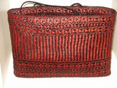 Harakeke, muka dyed basket Jill Fleming